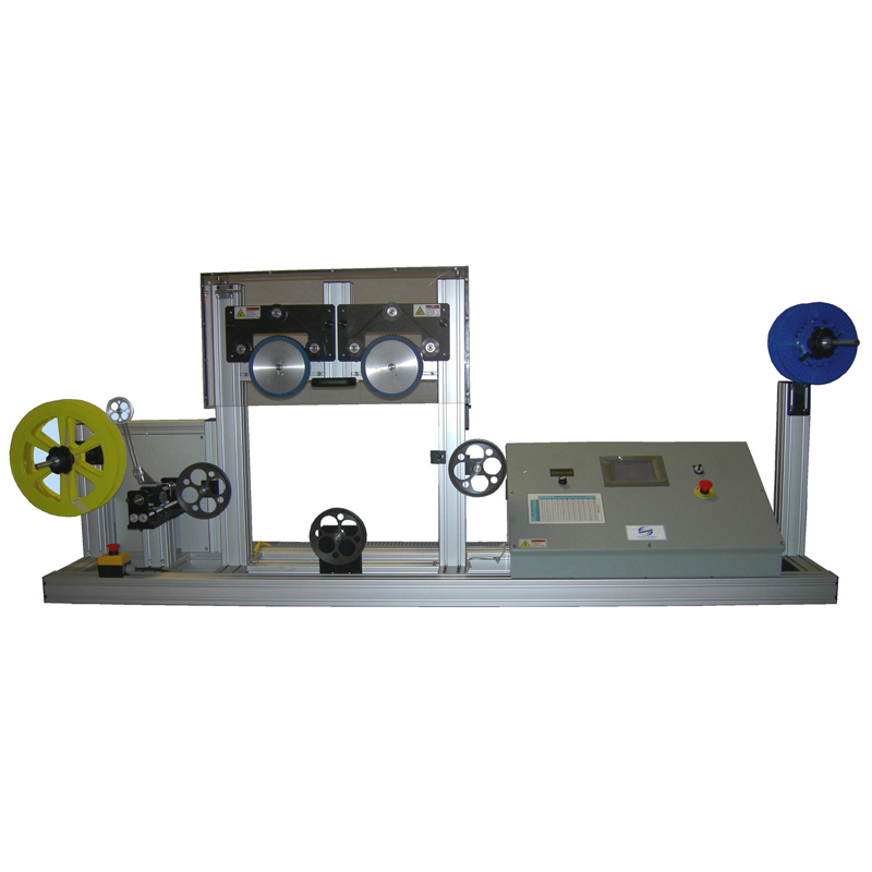 Optical fiber proof testing machine