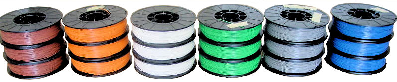 Various Colored Wire Stacked Spools