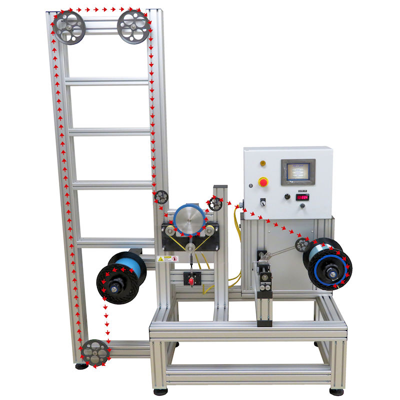Optical Fiber Coating & Inspection Machine with Path