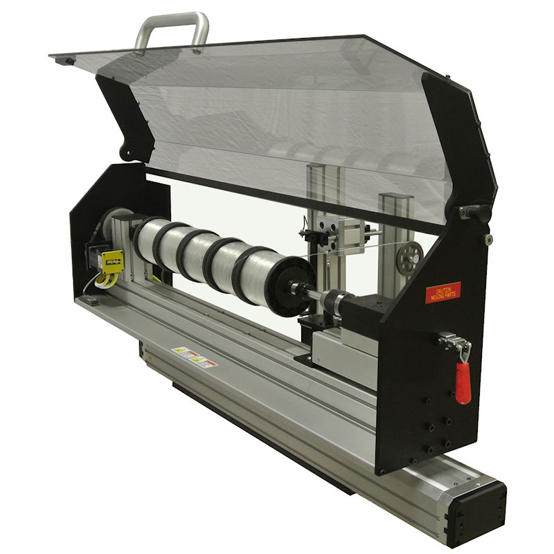 "The MultiSpooler has a capacity for up to a 25"" long row of spools. Many types and sizes of spools can be accommodated."