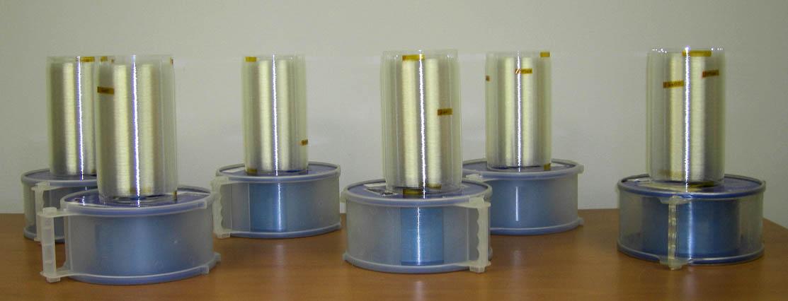 Coils Sitting on Corning Fiber Spools
